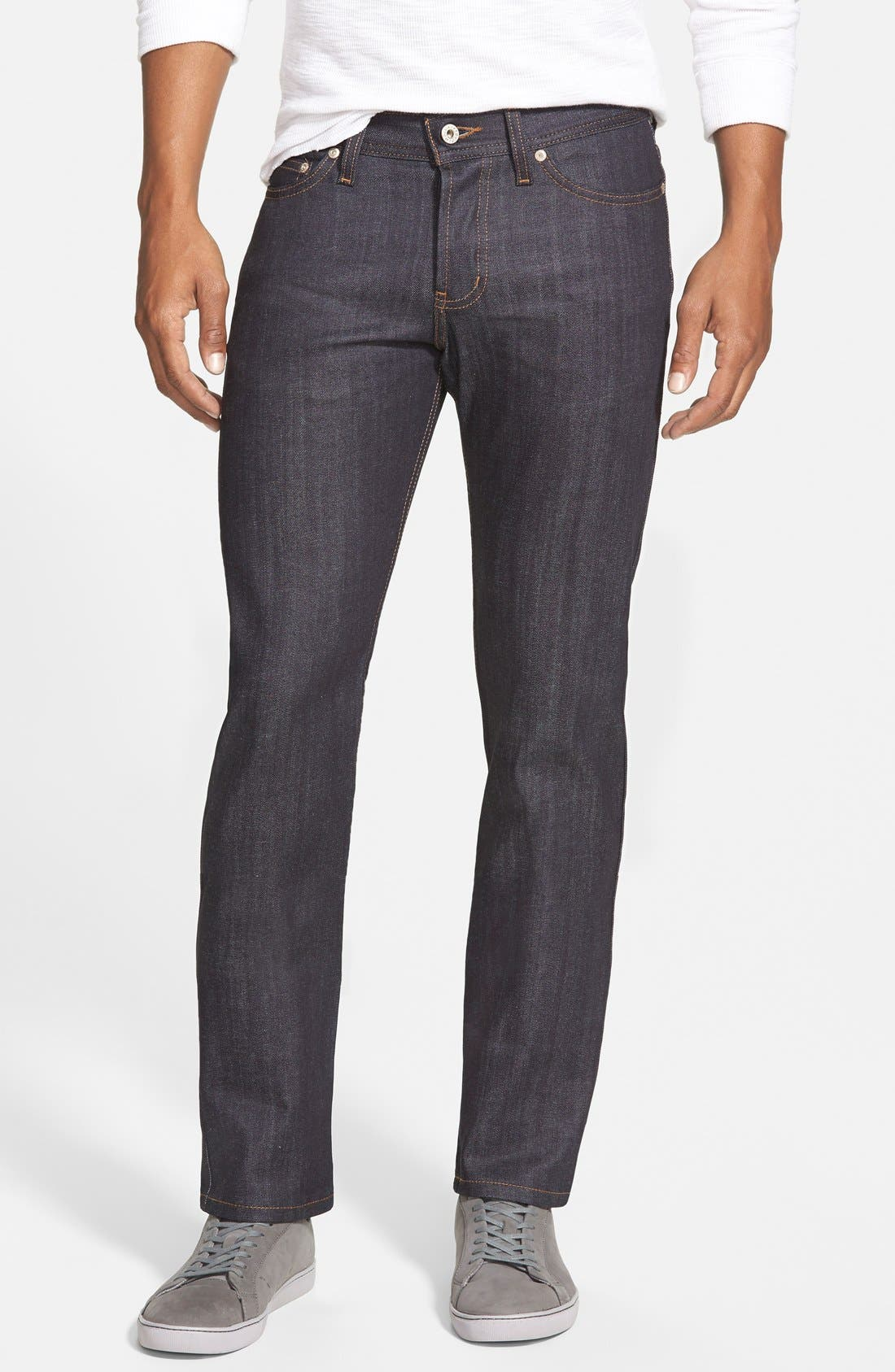 Naked & Famous Denim 'Weird Guy' Slim Fit Jeans (Indigo)