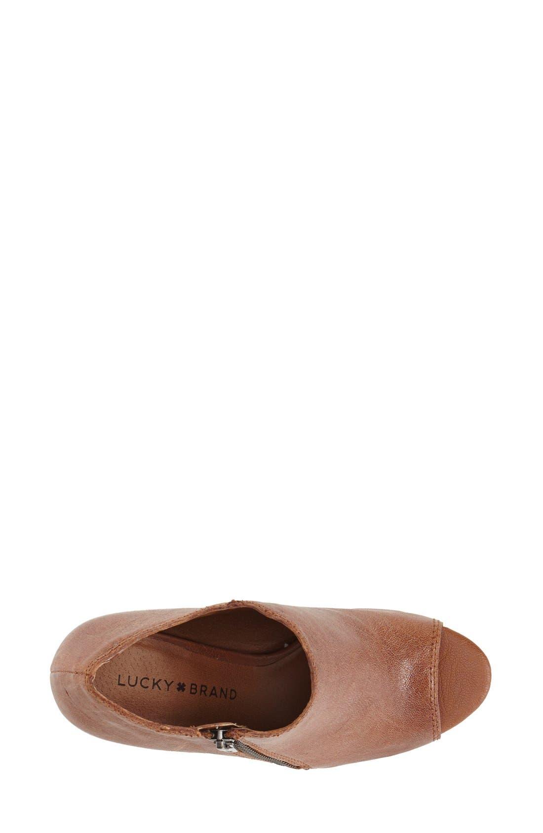 Alternate Image 3  - Lucky Brand 'Pabla' Open Toe Bootie (Women)