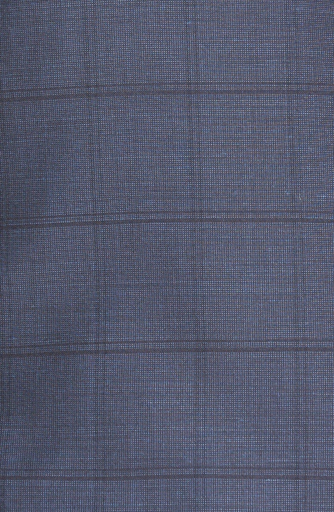 BOSS 'Hutsons/Gander' Trim Fit Check Wool Suit,                             Alternate thumbnail 5, color,                             Navy