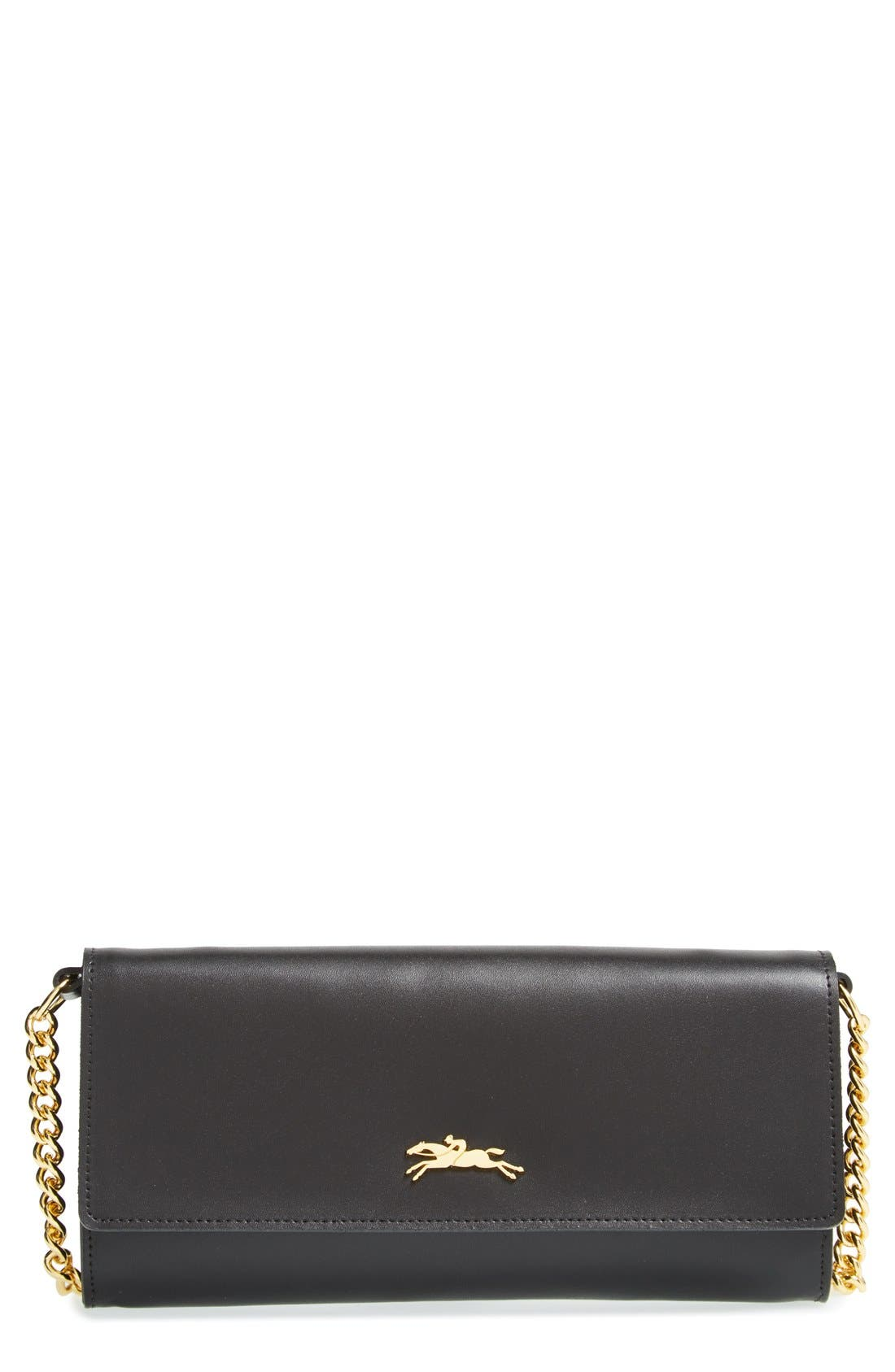 Main Image - Longchamp 'Honore' Wallet on A Chain