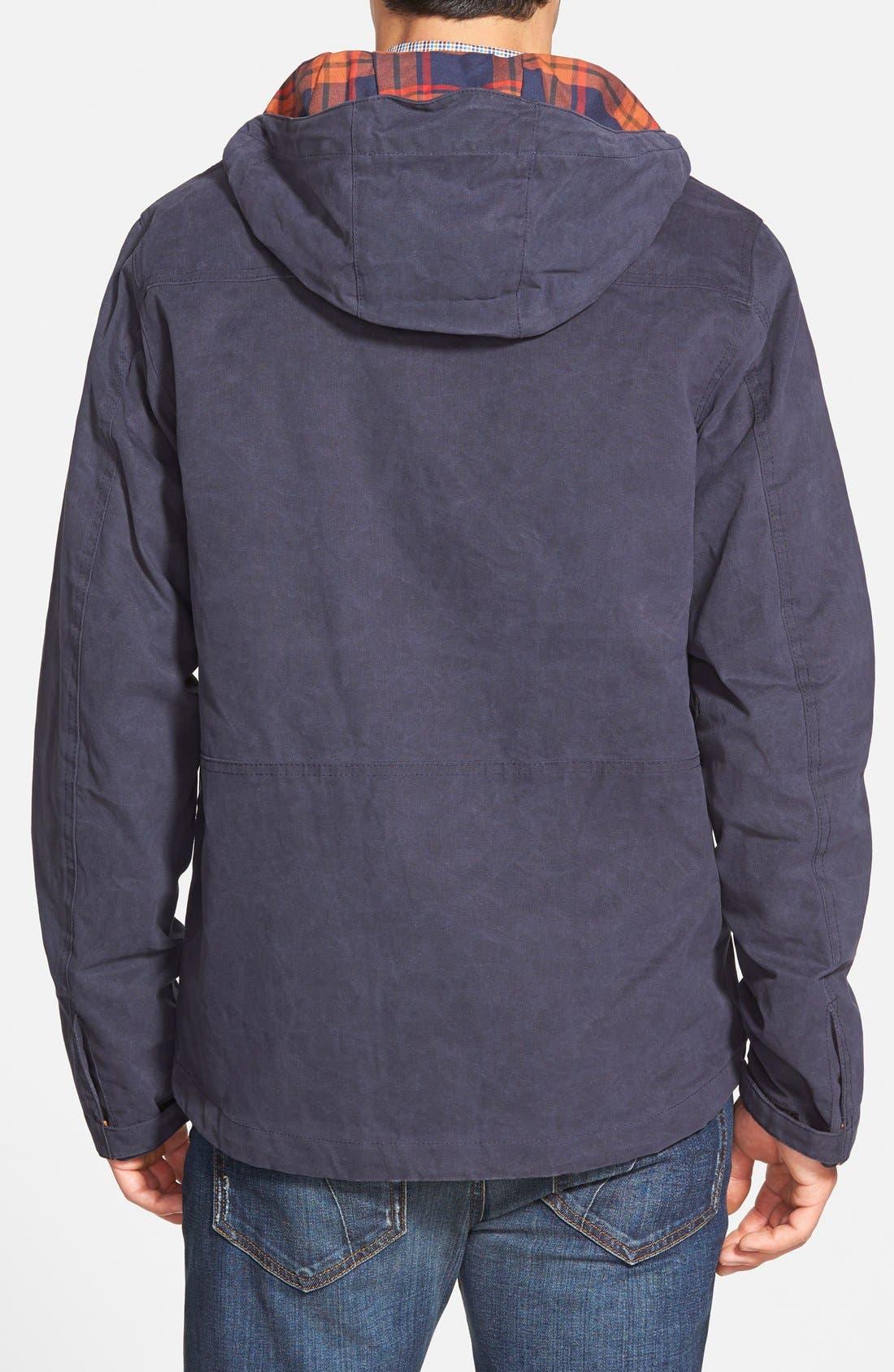 Alternate Image 2  - Timberland 'Mount Davis' Waxed Cotton Hooded Jacket