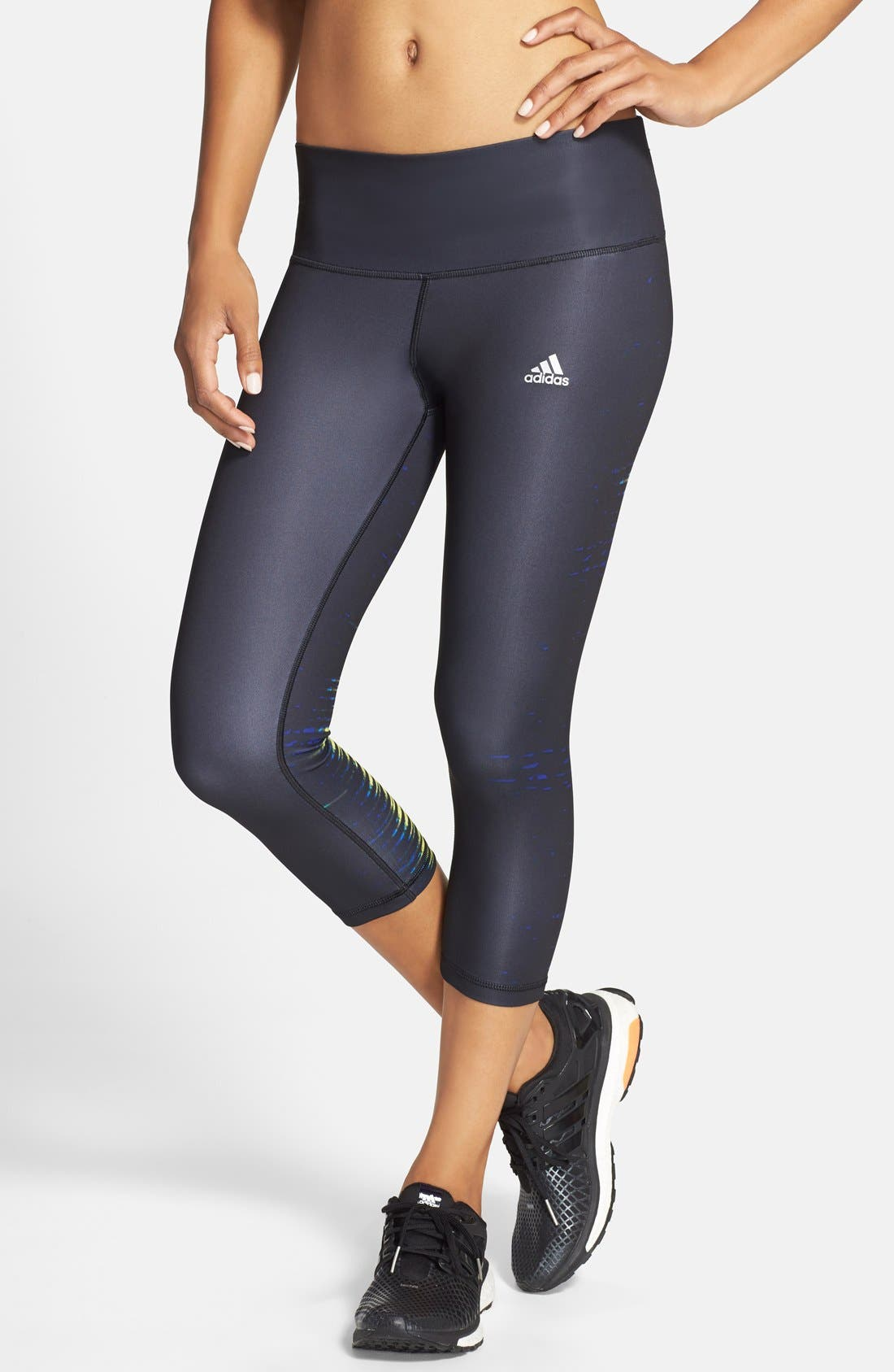 Alternate Image 1 Selected - adidas 'Performer' Mid-Rise Three Quarter Tights