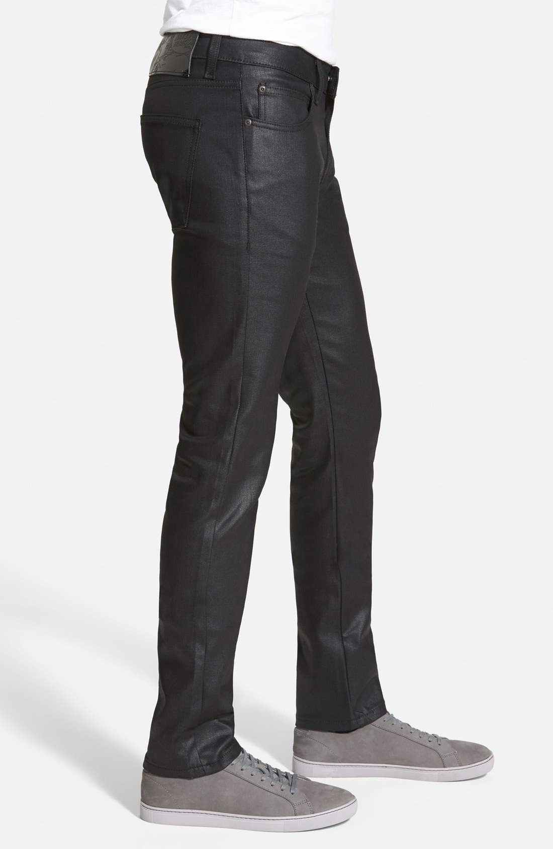Alternate Image 3  - Naked & Famous Denim Super Skinny Guy Skinny Stretch Jeans (Black)