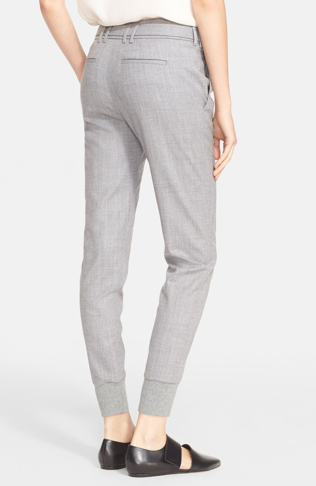 Belted Rib Cuff Jogger Pants,                             Alternate thumbnail 2, color,                             Light Heather Grey