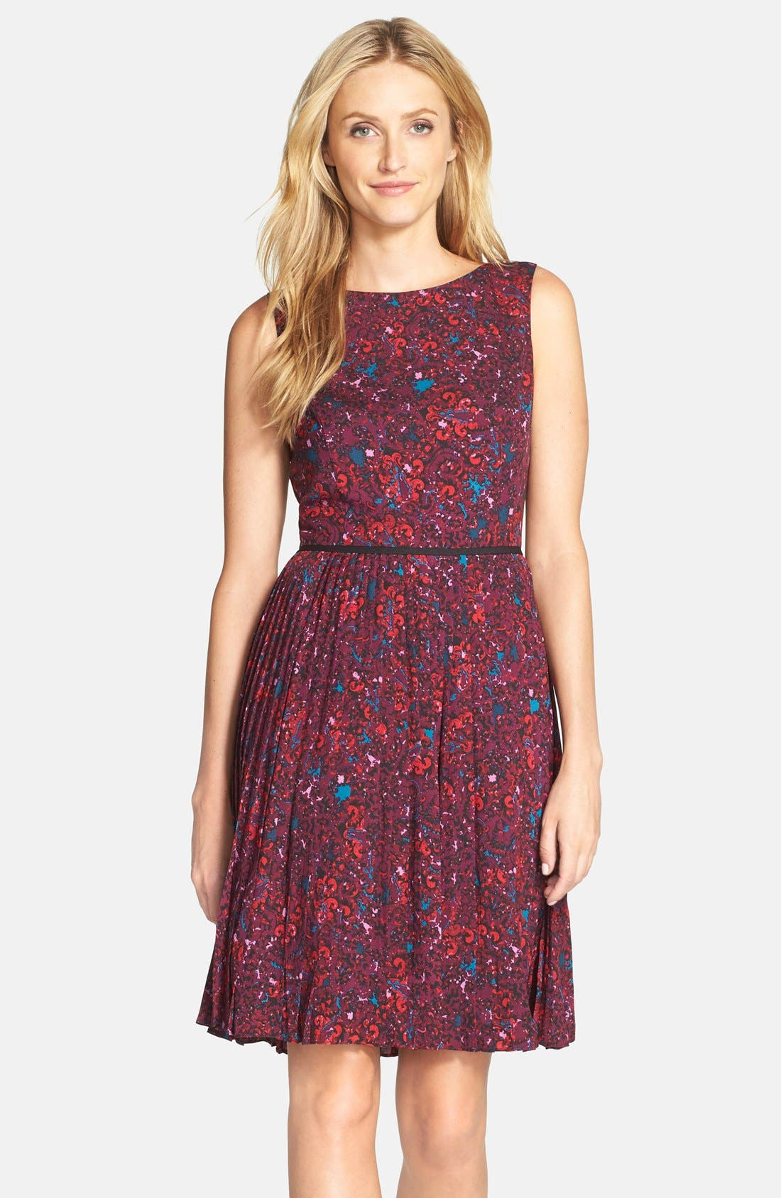 Main Image - Adrianna Papell Print Woven Fit & Flare Dress