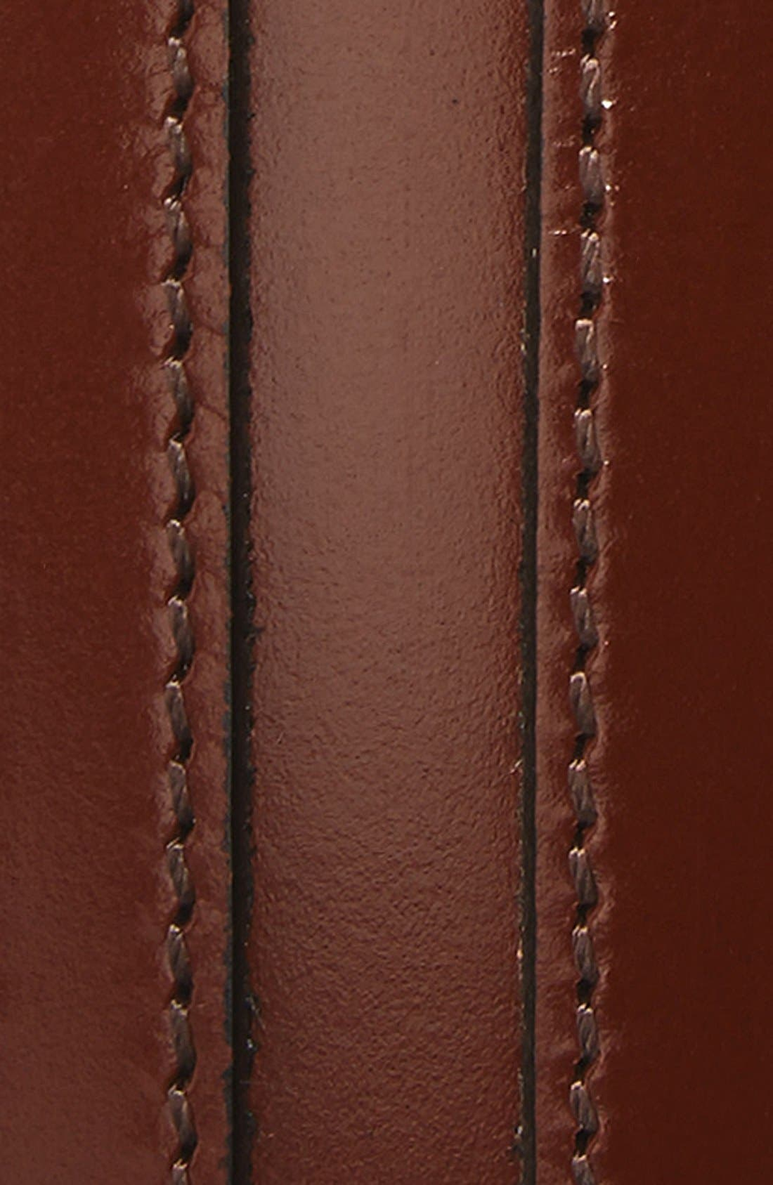 Calfskin Belt,                             Alternate thumbnail 2, color,                             Chestnut