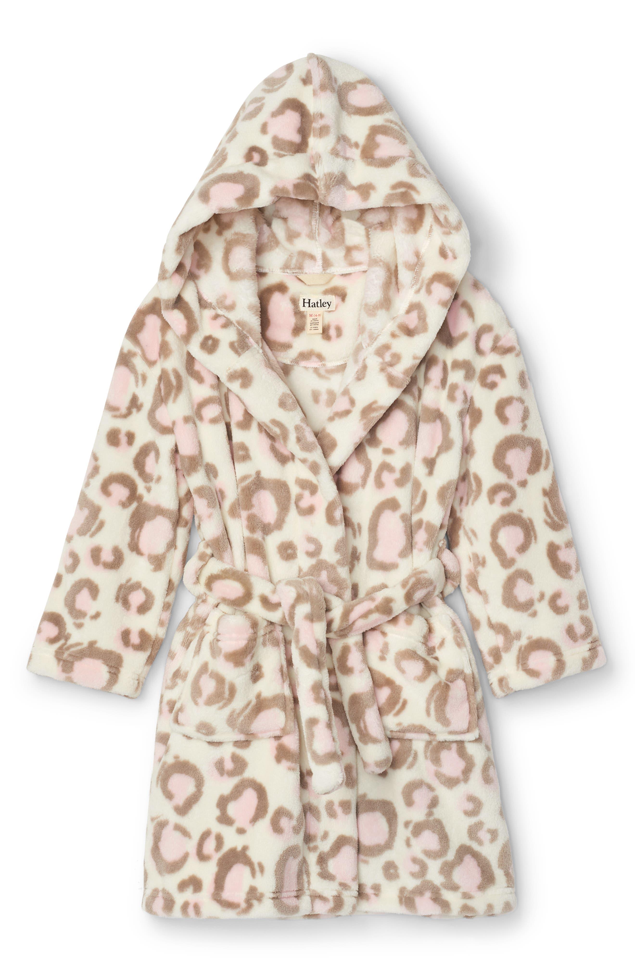 Animal Bathrobe Kids Girls Boys Pajamas Sleepwear Hooded Plush Robe Bath Towel
