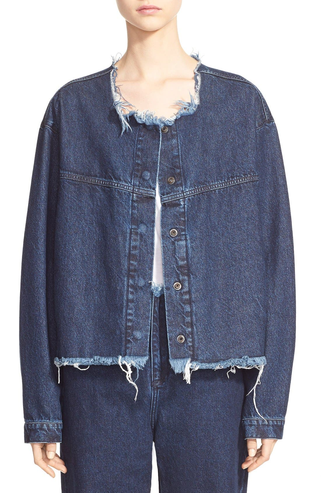 Alternate Image 1 Selected - Marques'Almeida Collarless Denim Jacket