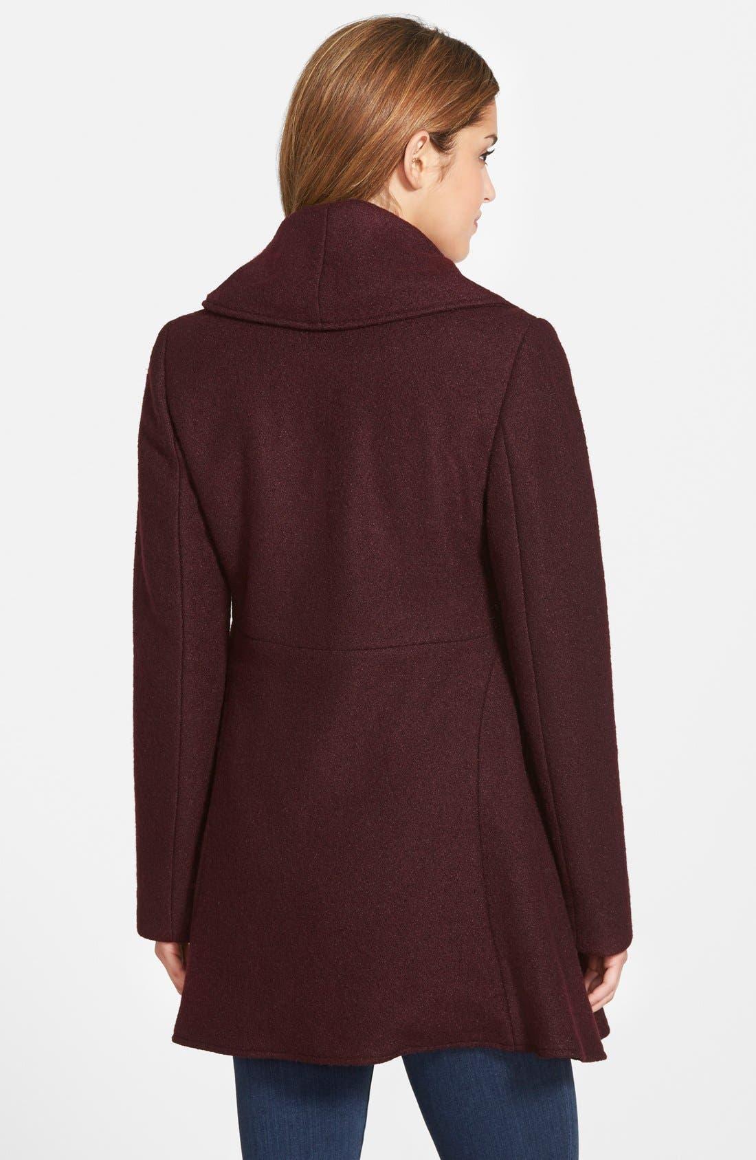 Alternate Image 2  - kensie Shawl Collar Fit & Flare Coat