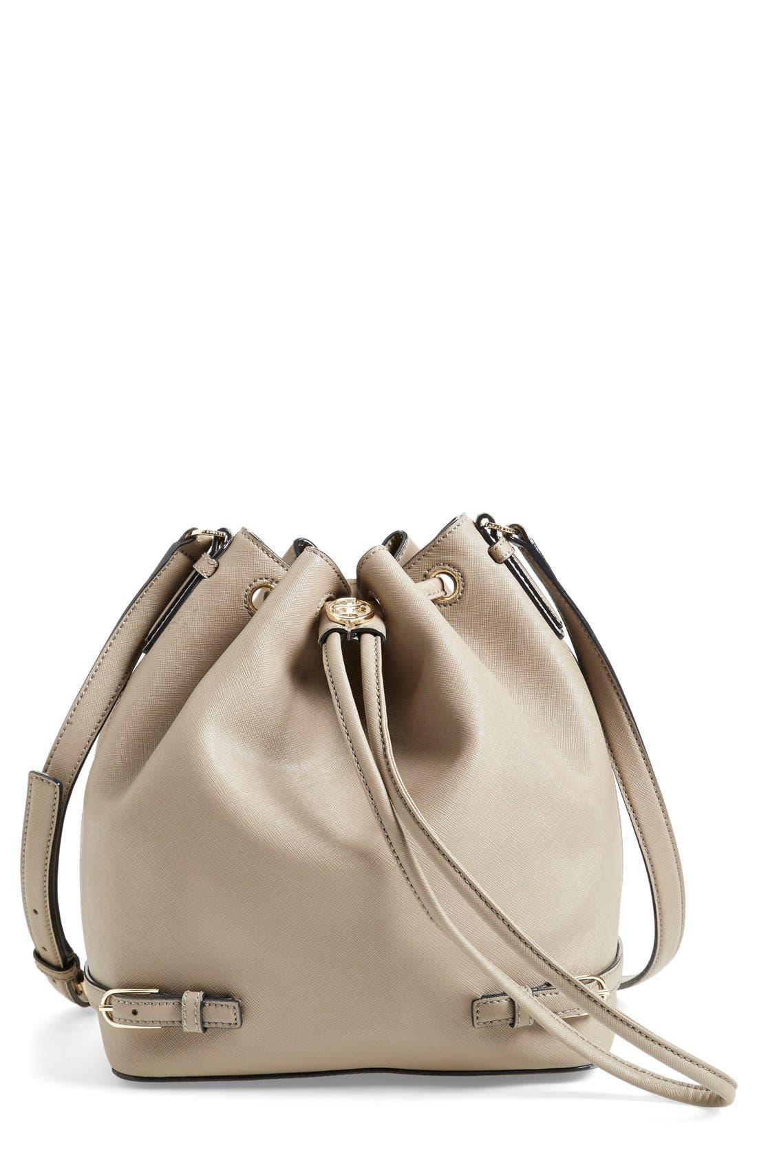 Main Image - Tory Burch 'Robinson' Saffiano Leather Bucket Bag