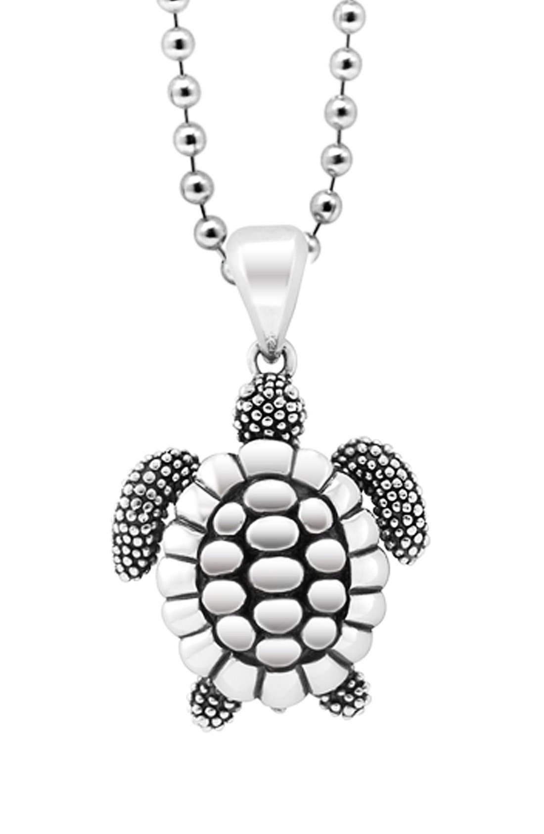Alternate Image 1 Selected - LAGOS 'Rare Wonders - Turtle' Long Talisman Necklace