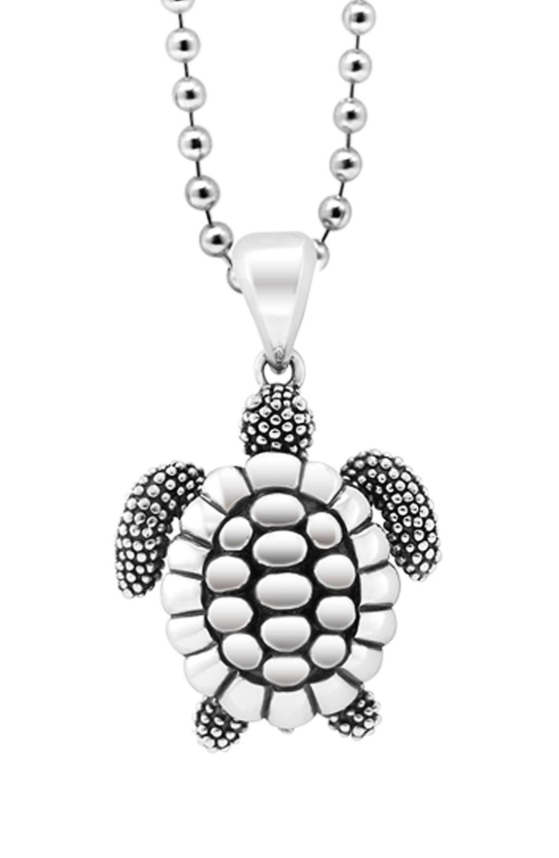 'Rare Wonders - Turtle' Long Talisman Necklace,                         Main,                         color, Silver/ Turtle