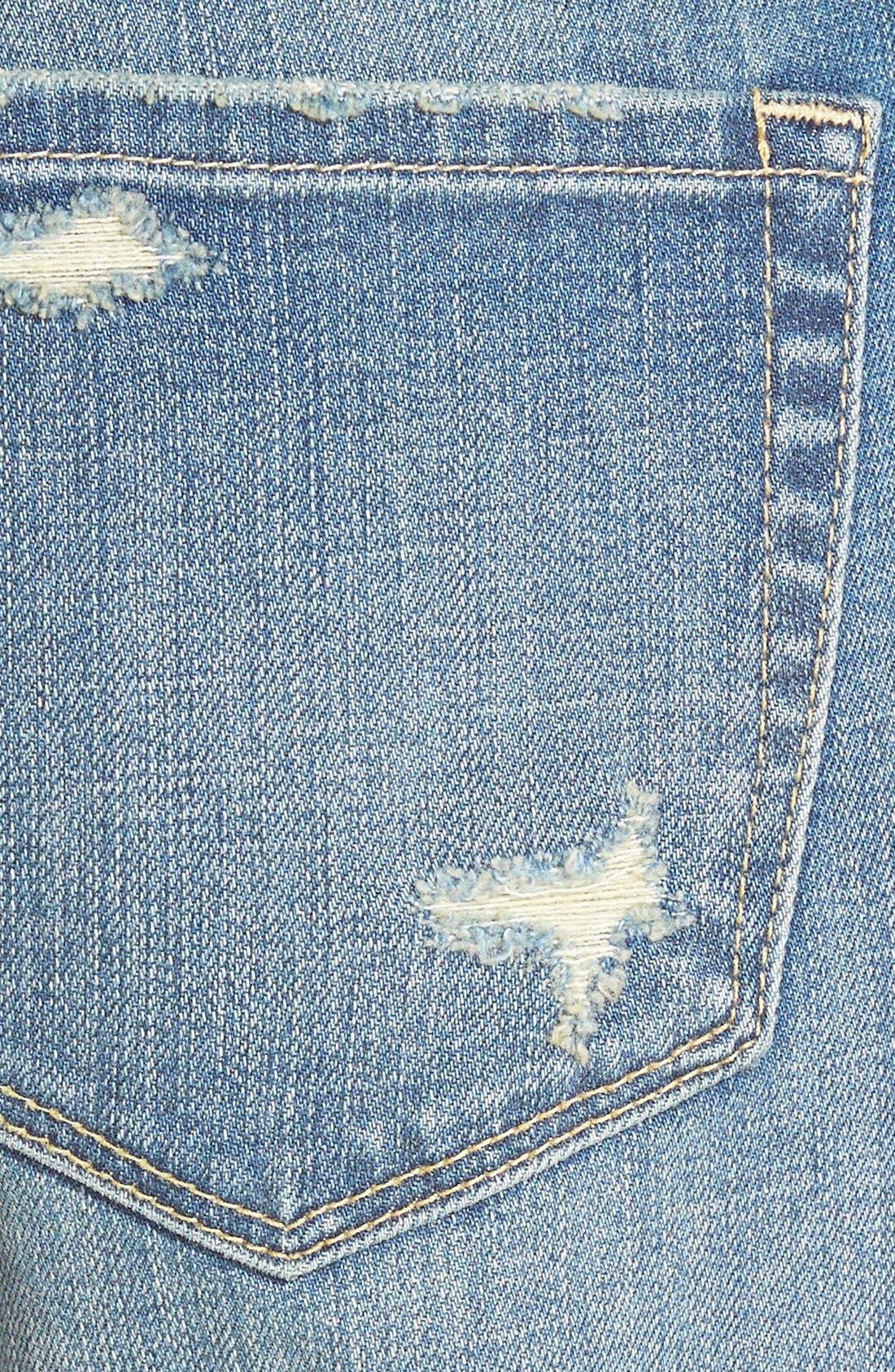 Alternate Image 4  - Treasure&Bond Boyfriend Jeans (Cross Light Tint)