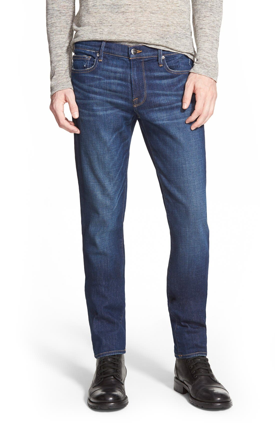 Main Image - FRAME L'Homme Slim Fit Jeans (Niagra)