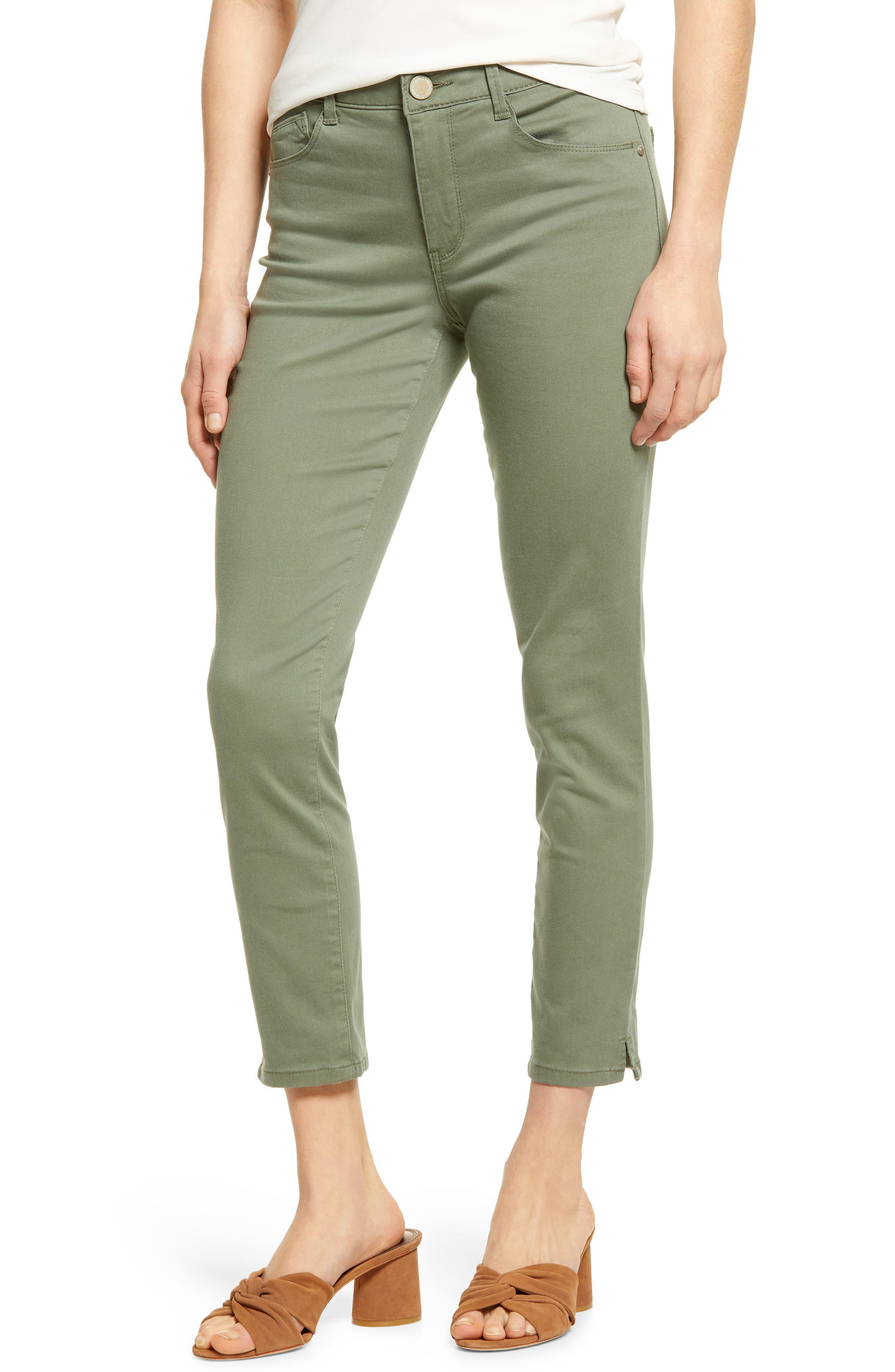 Capris 4 6 8 10 New Ladies Fitted Waist Blue Stripe 3//4 Trouser