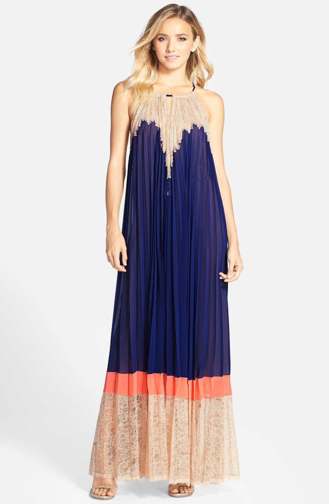 Main Image - BCBGMAXAZRIA 'Brieena' Colorblock Sleeveless Maxi Dress