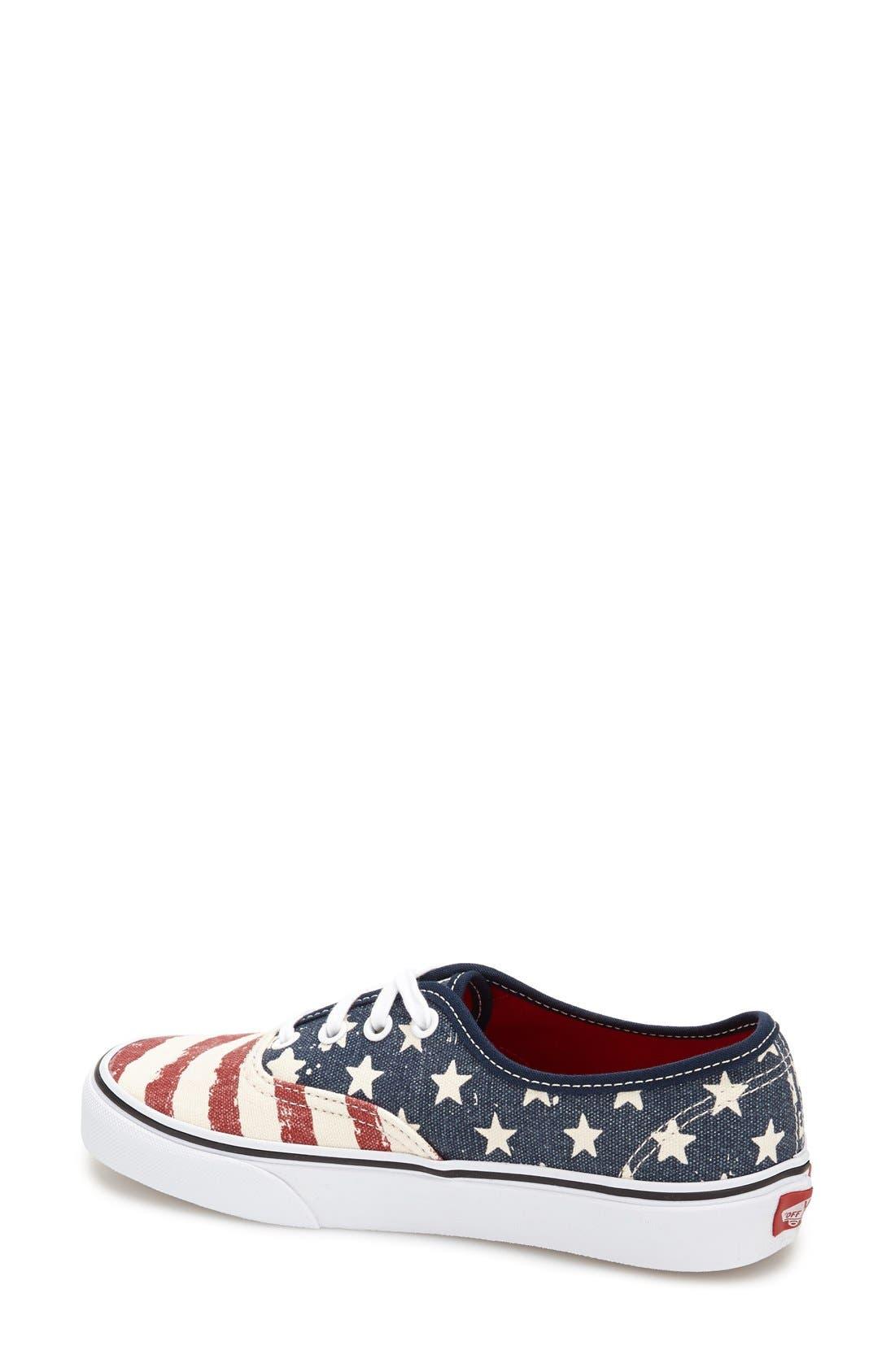 Alternate Image 2  - Vans 'Authentic - Stars & Stripes' Sneaker (Women)