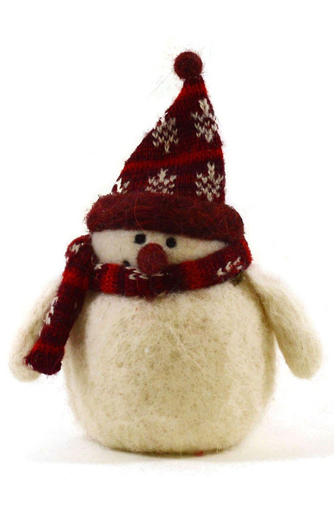Alternate Image 1 Selected - Shea's Wildflower 'Hadley the Snowman' Wool Figurine