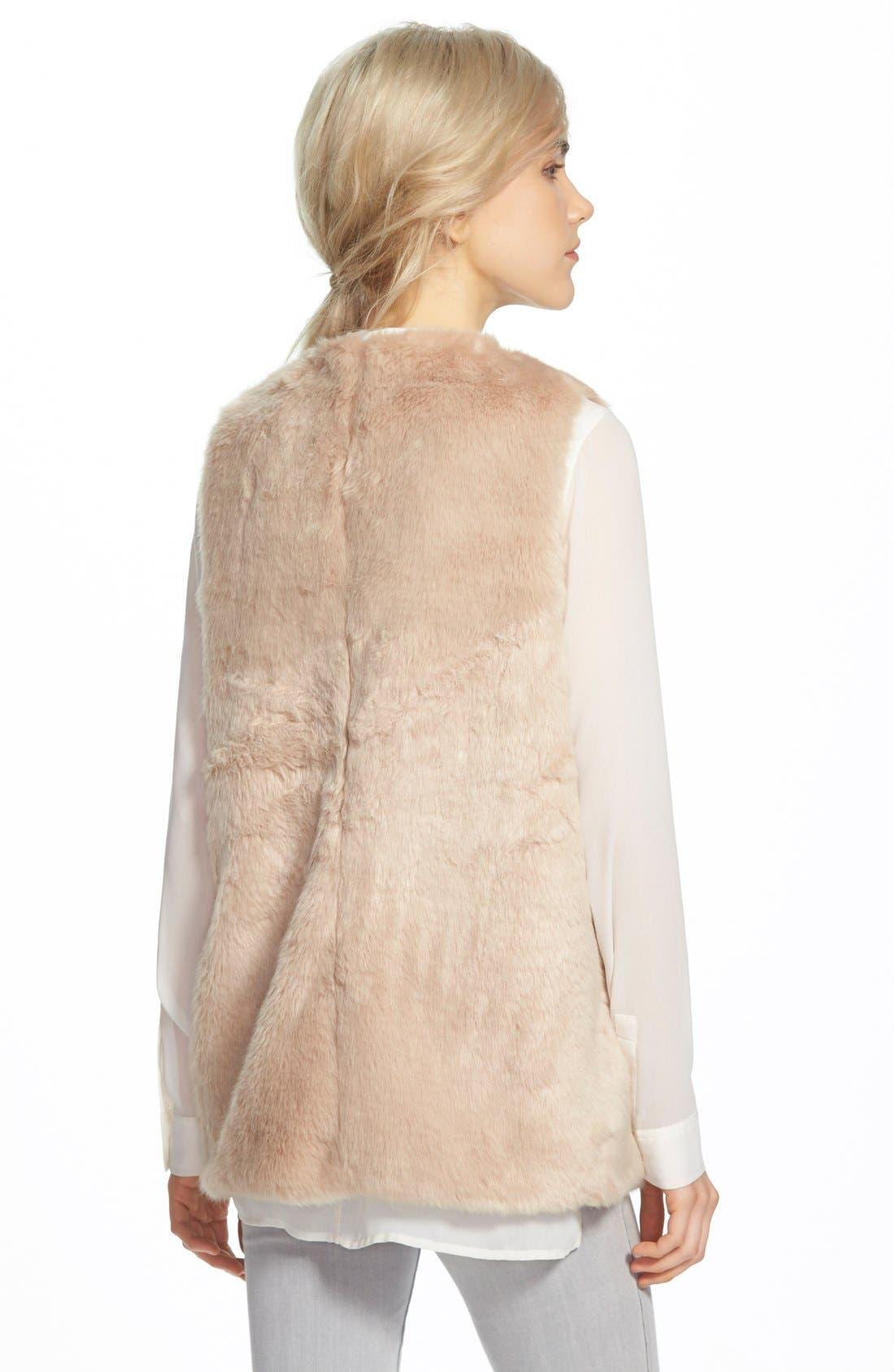 FauxFur Vest,                             Alternate thumbnail 2, color,                             Camel
