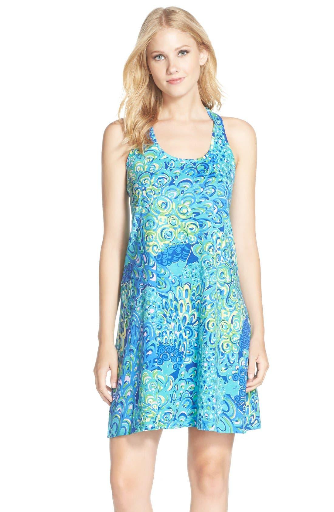 Lilly Pulitzer® \'Melle\' Print A-Line Pima Cotton Tank Dress ...