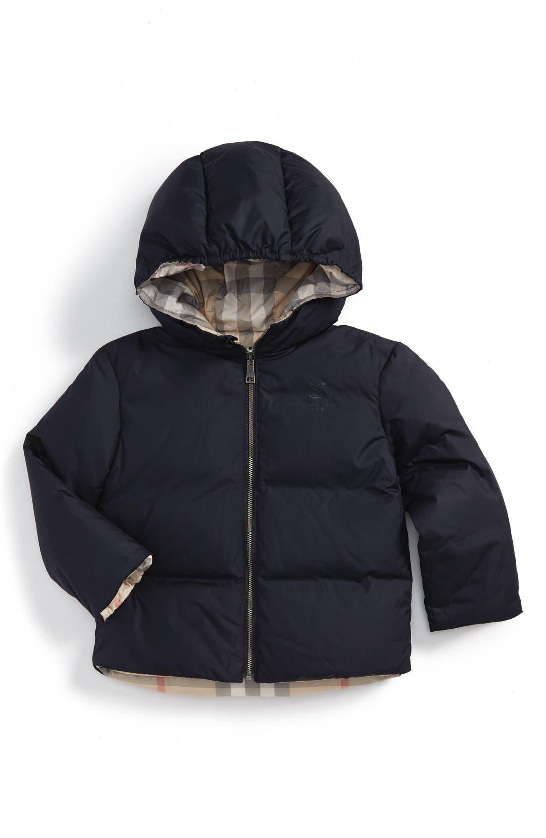 Burberry 'Rio' Hooded Puffer Jacket (Toddler Girls)