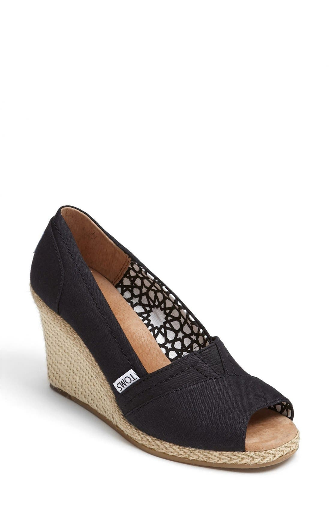 Alternate Image 1 Selected - TOMS 'Calypso' Canvas Wedge