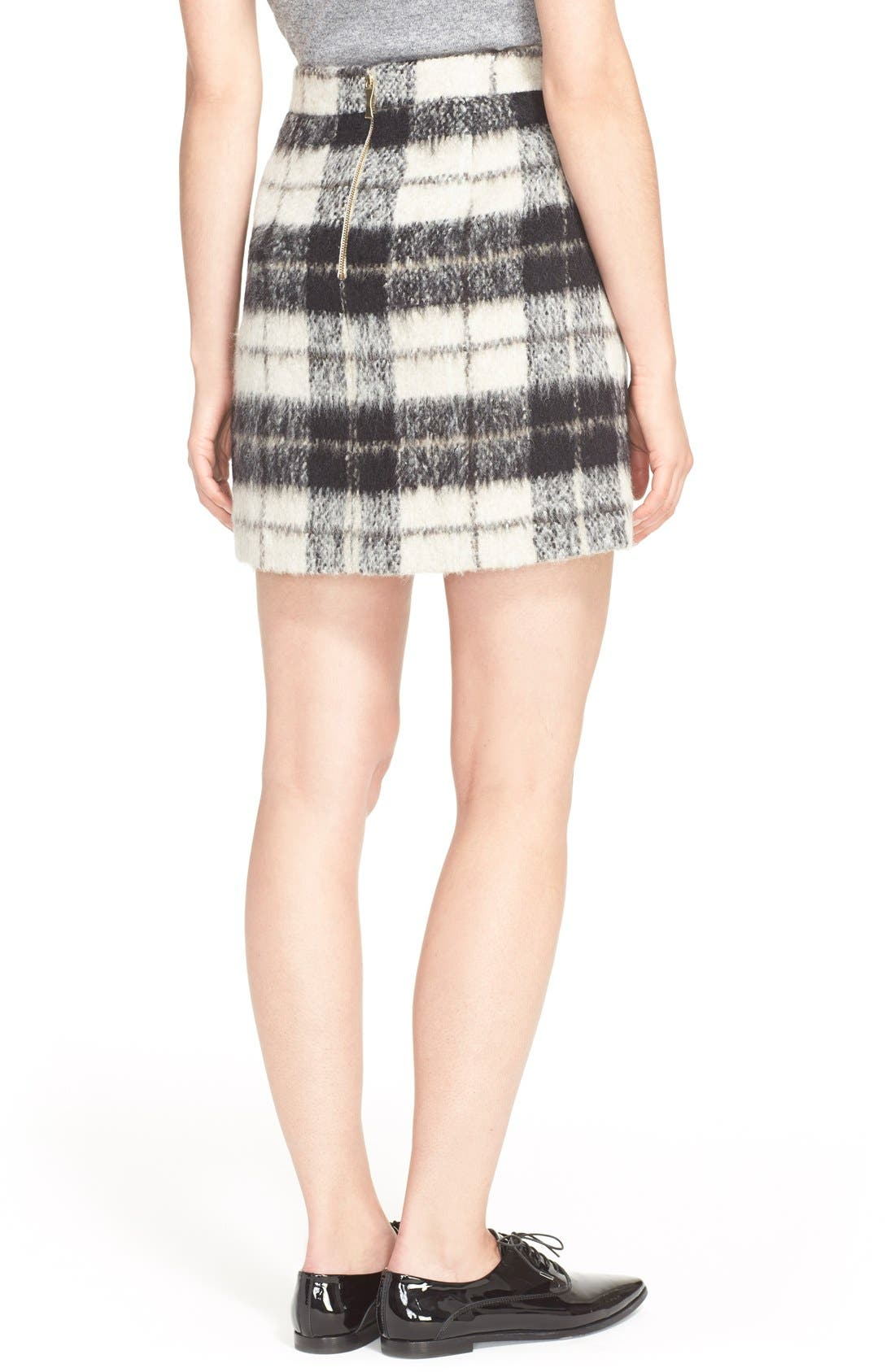 Alternate Image 3  - kate spade new york 'woodland check' plaid miniskirt