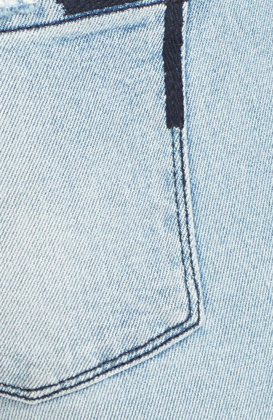 'Icon' Destroyed Skinny Jeans,                             Alternate thumbnail 3, color,                             Whiplash