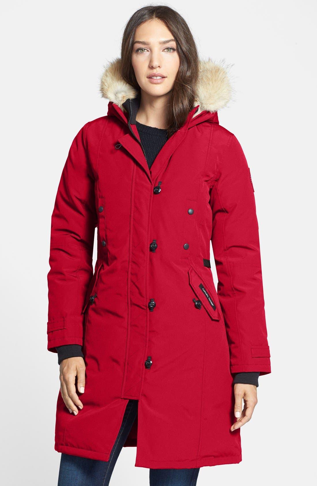 ladies red canada goose jacket