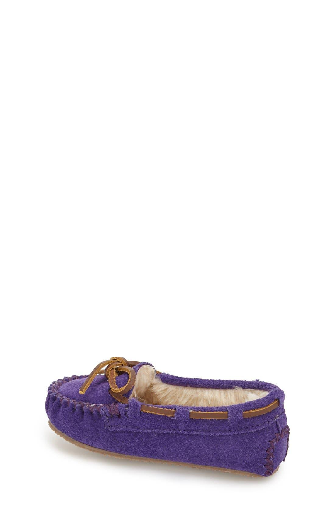 Kiltie Moccasin,                             Alternate thumbnail 2, color,                             Purple