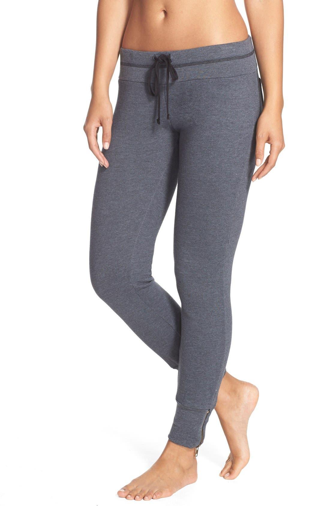 Main Image - 35mm Clothing 'Molly' Zip Hem Jogger Pants