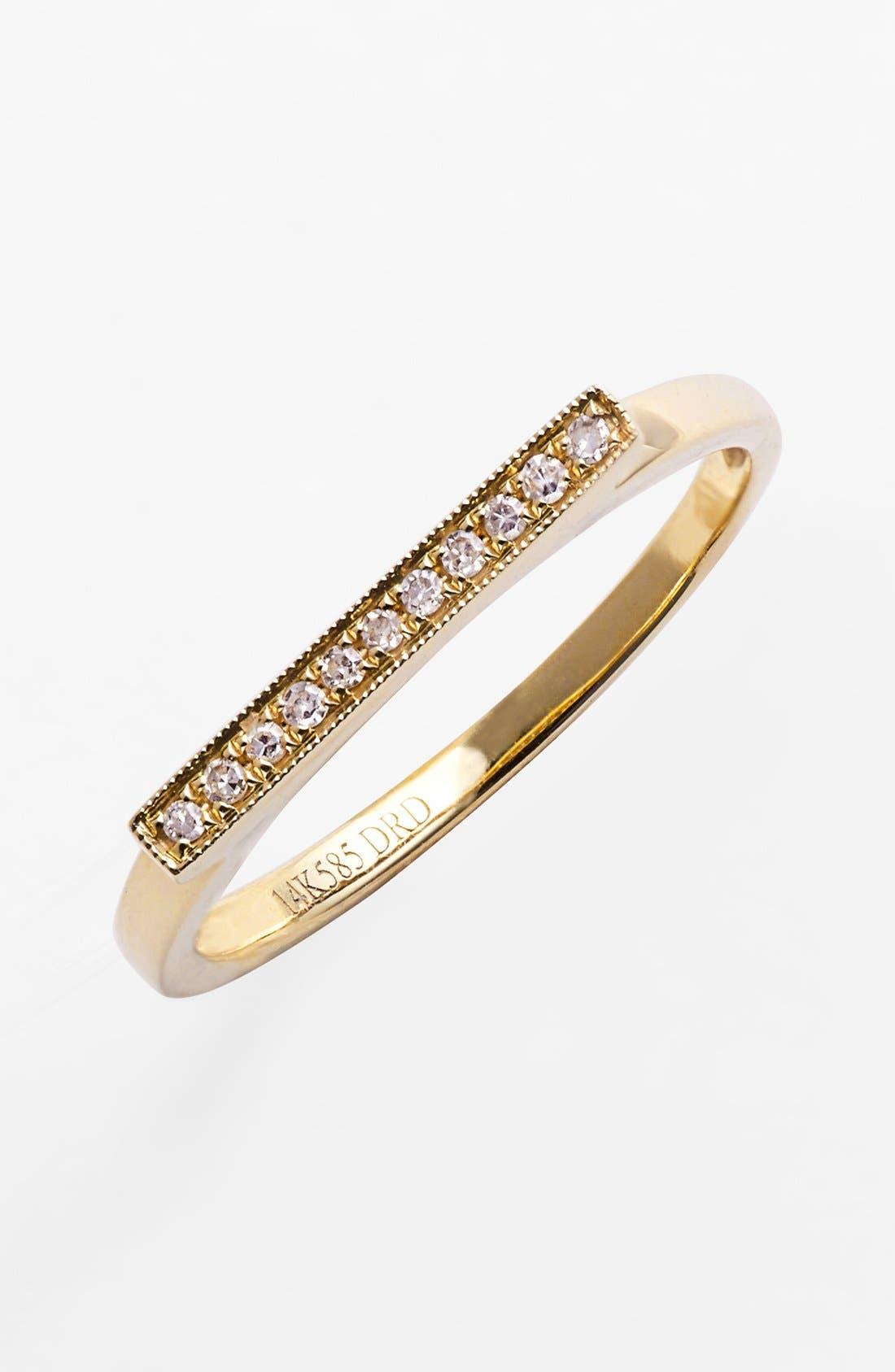 Main Image - Dana Rebecca Designs 'Sylvie Rose' Diamond Bar Ring