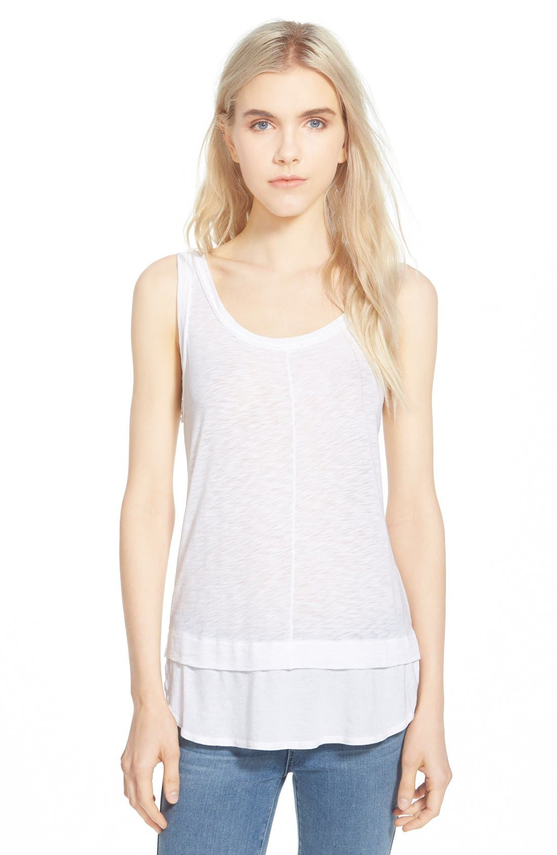 Alternate Image 1 Selected - Splendid Slub Layer Tank
