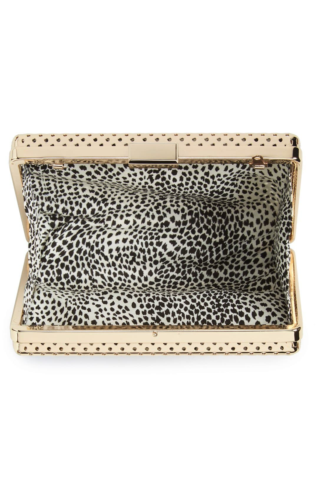 Alternate Image 4  - Sole Society 'Raquelle' Perforated Metal Box Clutch