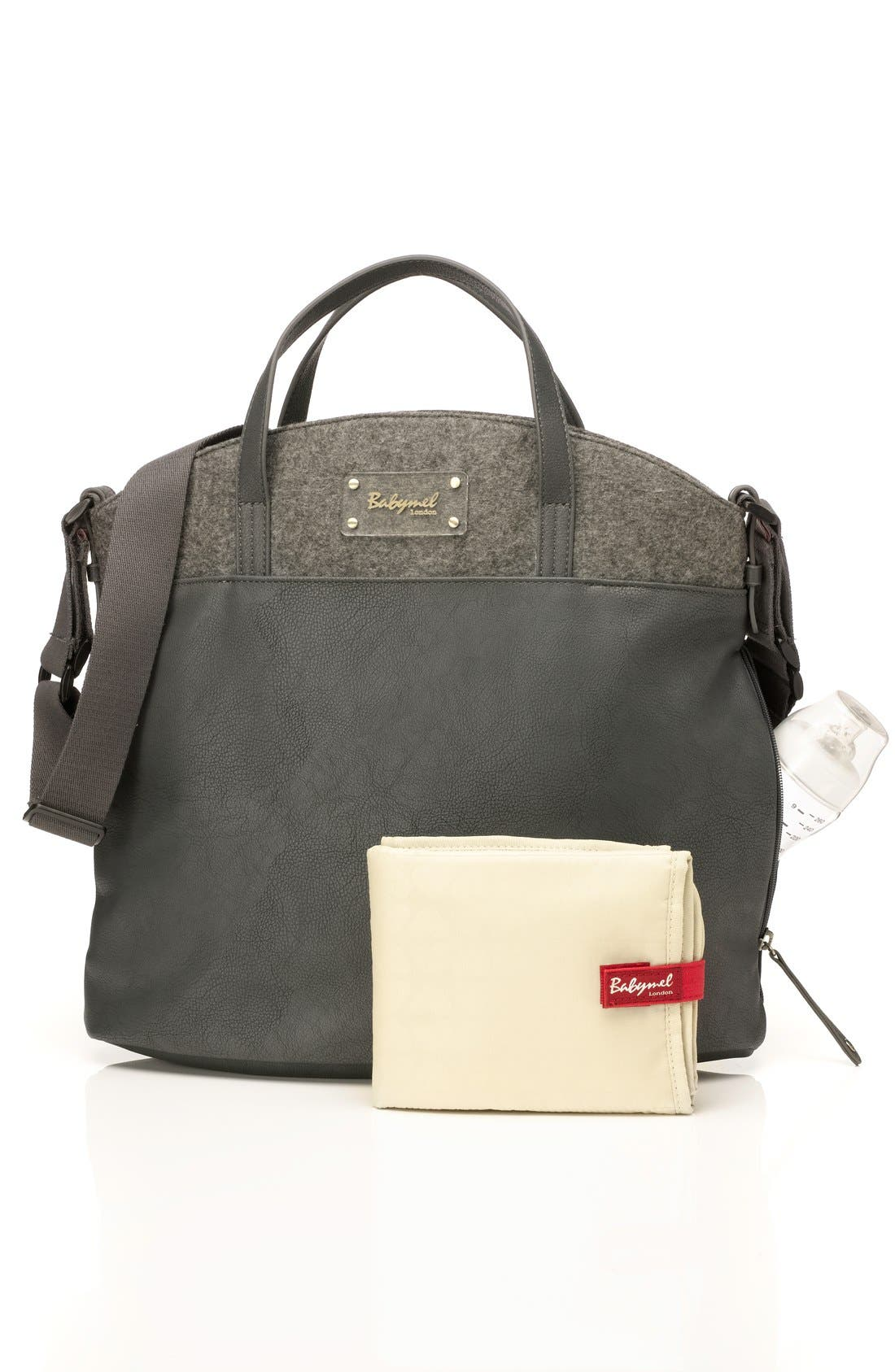 'Grace' Diaper Bag,                             Alternate thumbnail 2, color,                             Grey