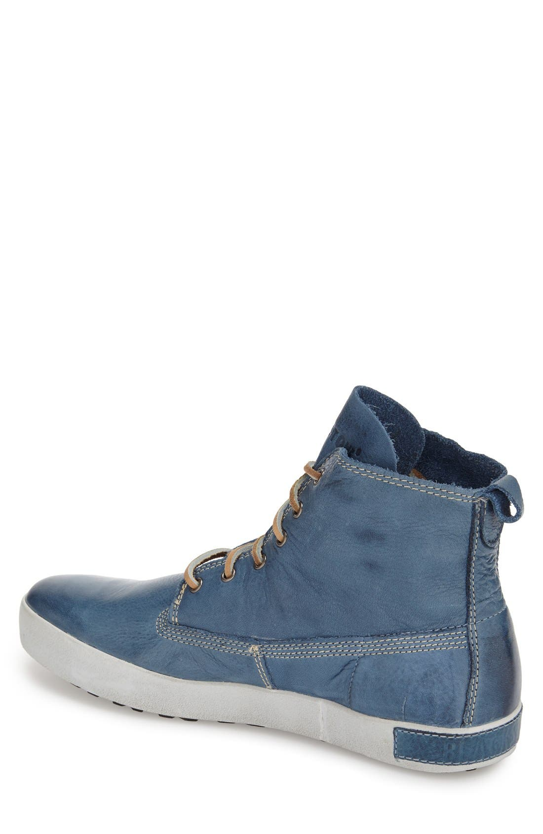'JM04' Sneaker,                             Alternate thumbnail 4, color,                             Light Indigo Leather