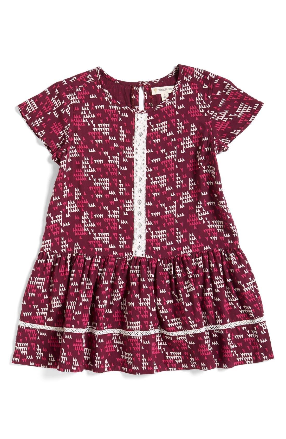 Alternate Image 2  - Tucker + Tate Crochet Trim WovenTunic Top (Toddler Girls, Little Girls & Big Girls)