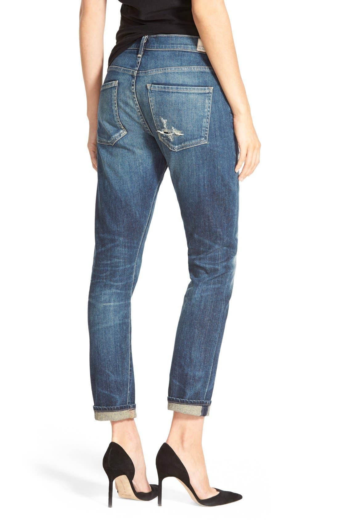 'Corey' Slouchy Slim Jeans,                             Alternate thumbnail 2, color,                             Hayward