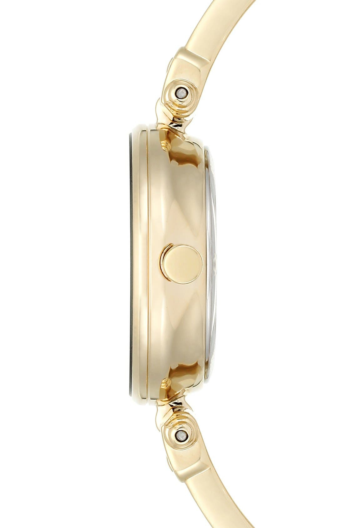 Alternate Image 3  - Anne Klein Diamond Marker Bangle Watch, 28mm