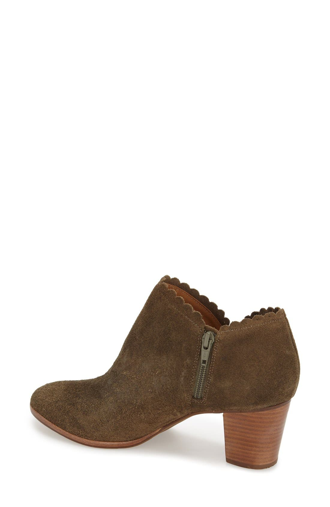 'Marianne' Bootie,                             Alternate thumbnail 2, color,                             Olive Suede
