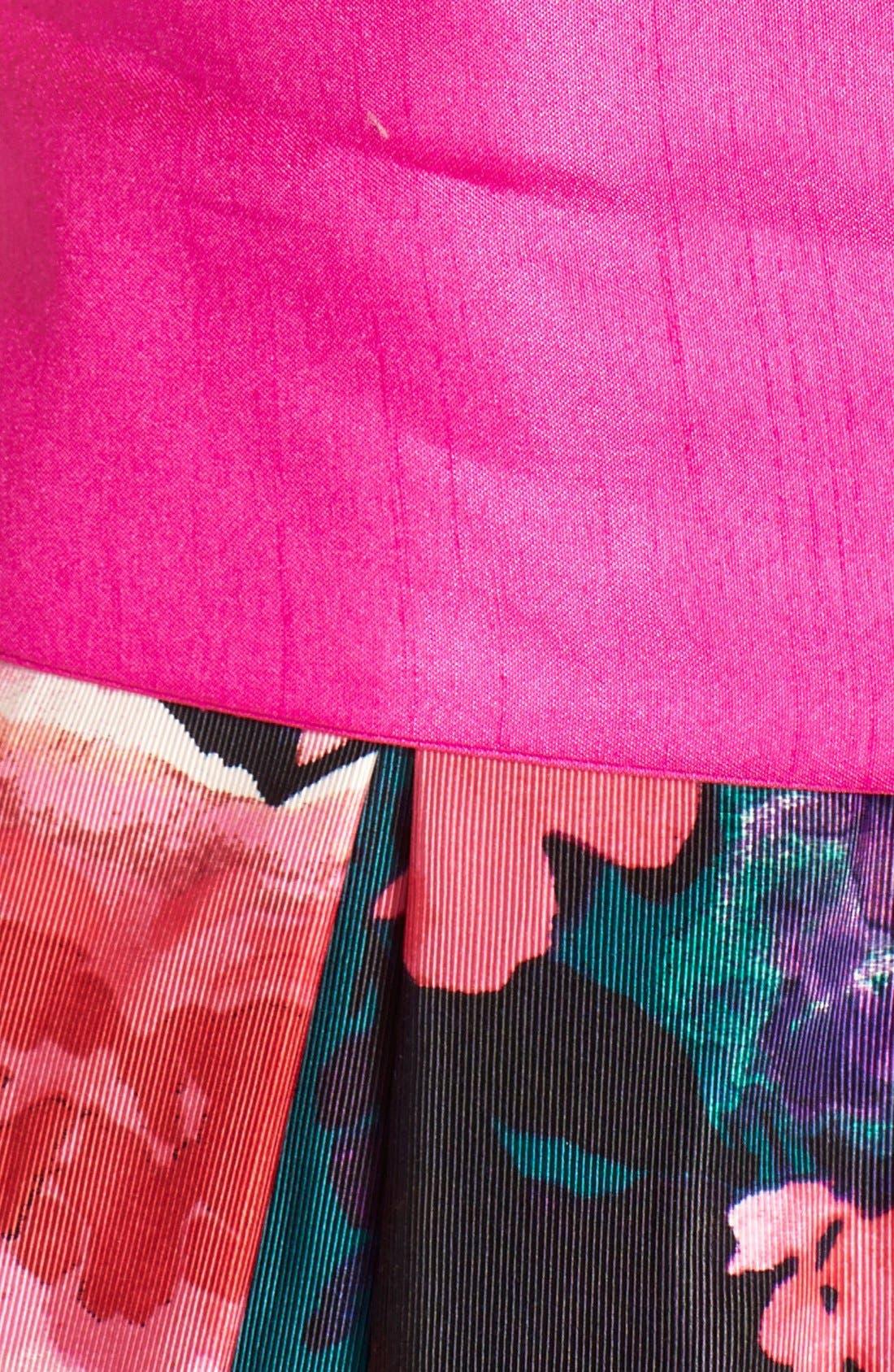 Alternate Image 4  - Eliza JFloral Print Faille Fit & Flare Dress (Regular & Petite)