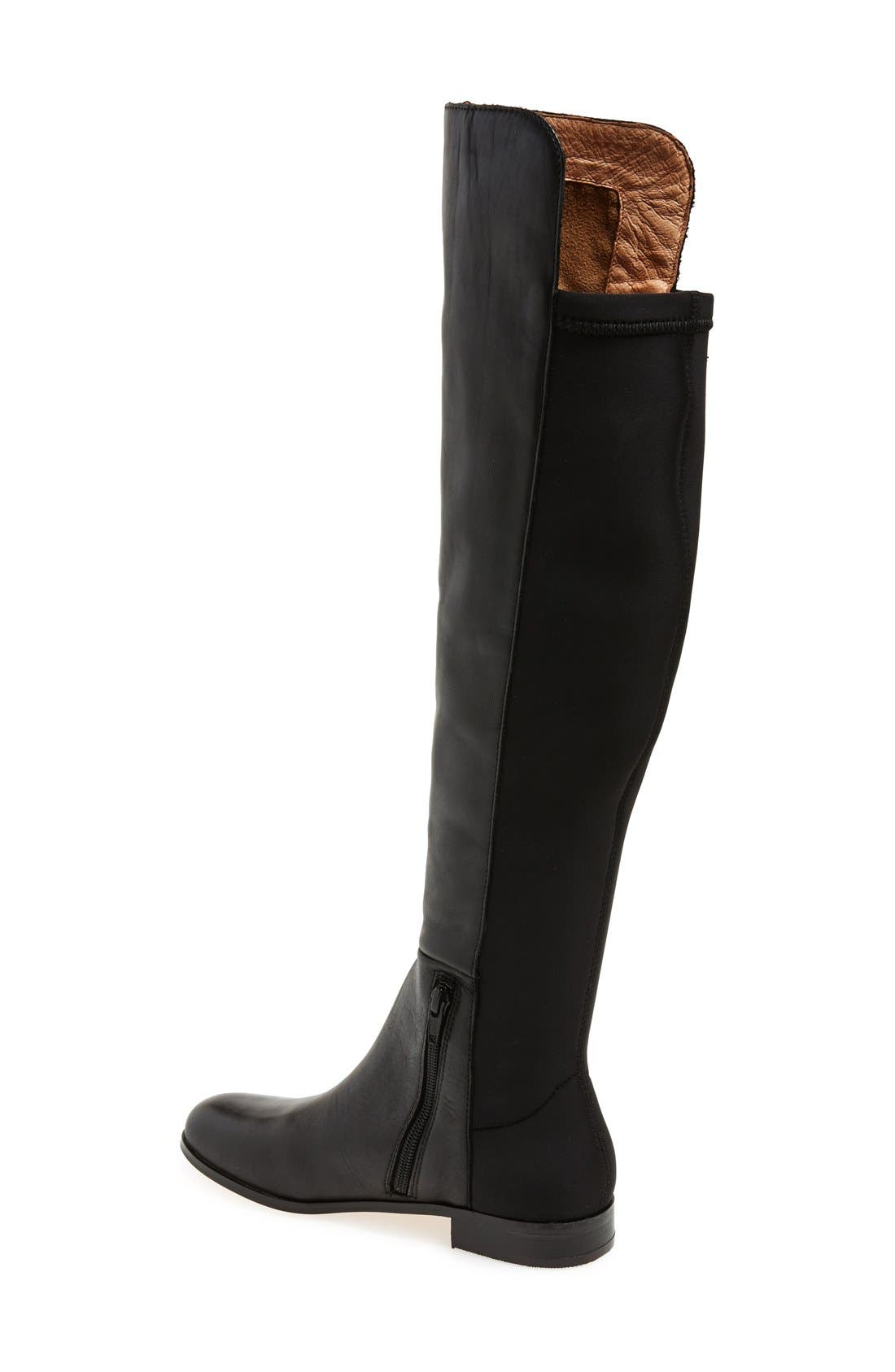'Laura' Over the Knee Boot,                             Alternate thumbnail 2, color,                             Black Leather