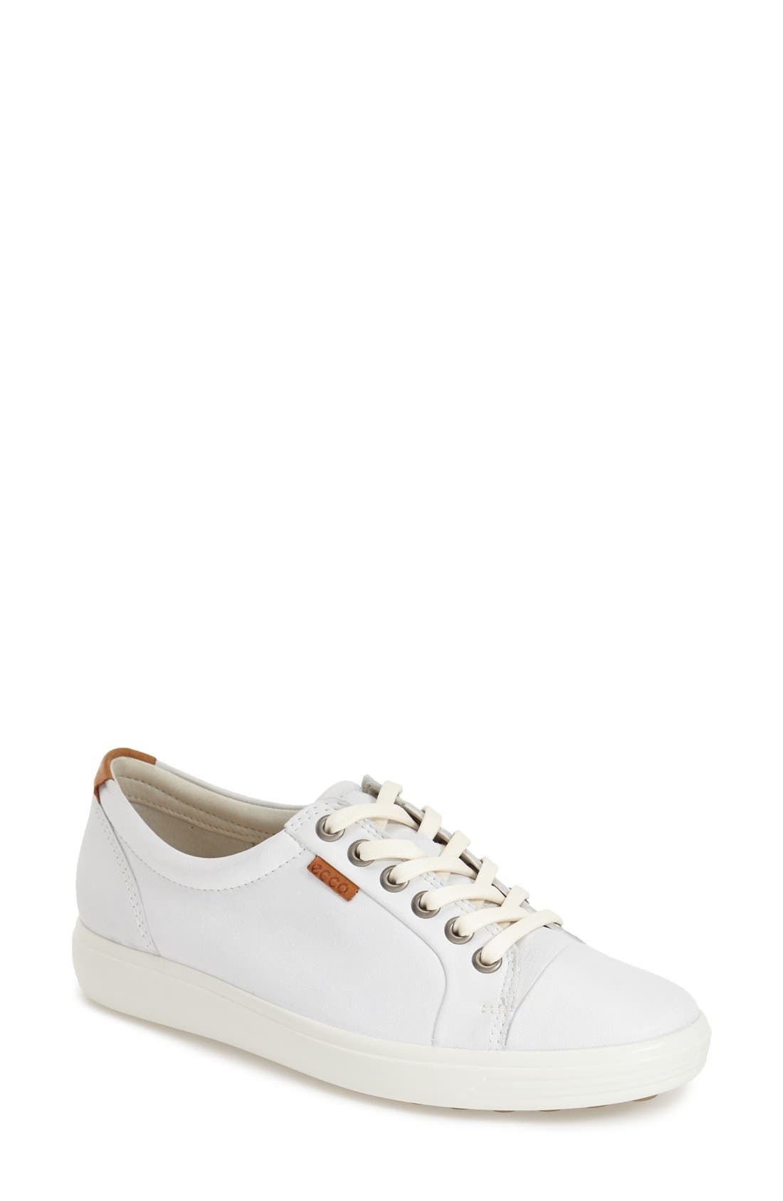 'Soft 7' Cap Toe Sneaker,                             Main thumbnail 1, color,                             White