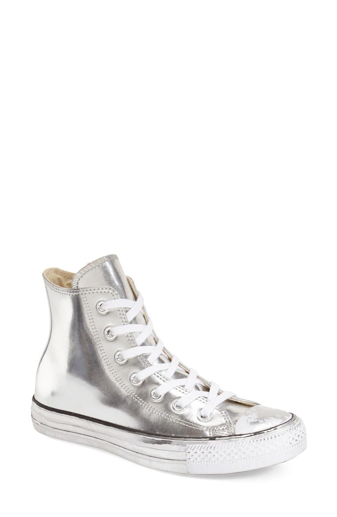 Alternate Image 1 Selected - Converse Chuck Taylor® All Star® 'Metallic' High Top Sneaker (Women)