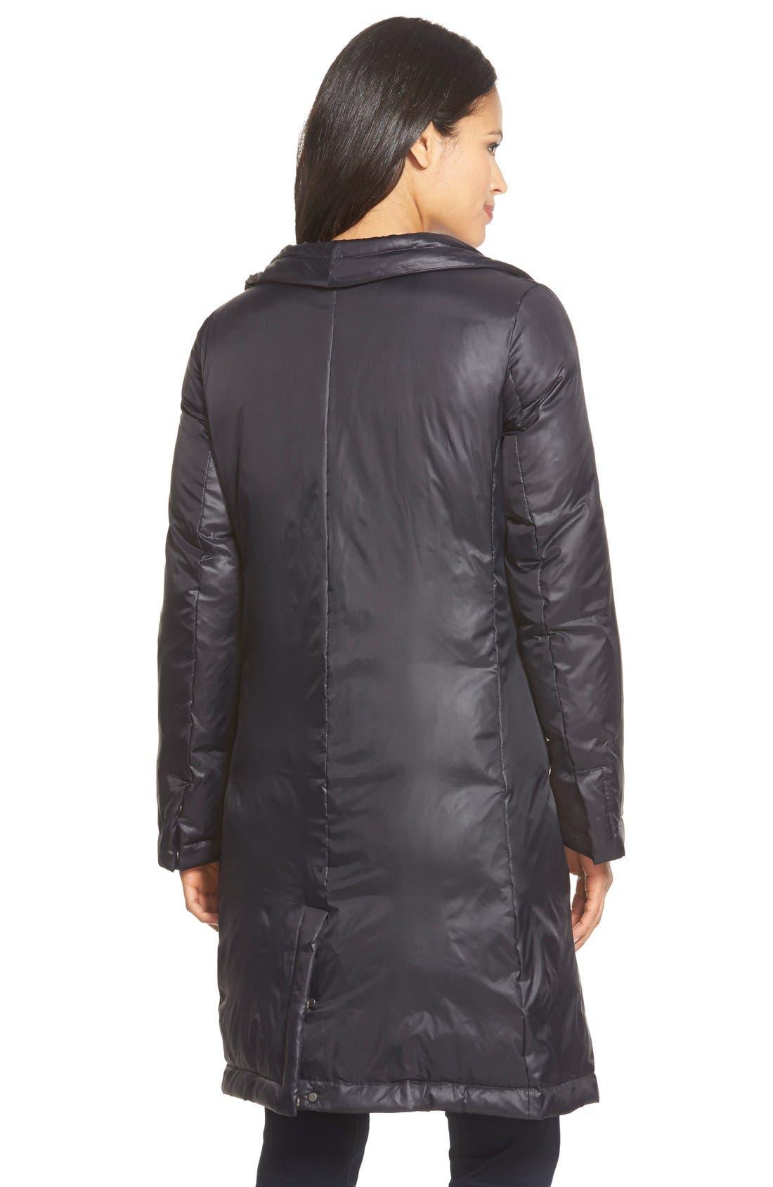 Alternate Image 2  - Eileen Fisher Stand Collar Down Puffer Jacket (Regular & Petite)