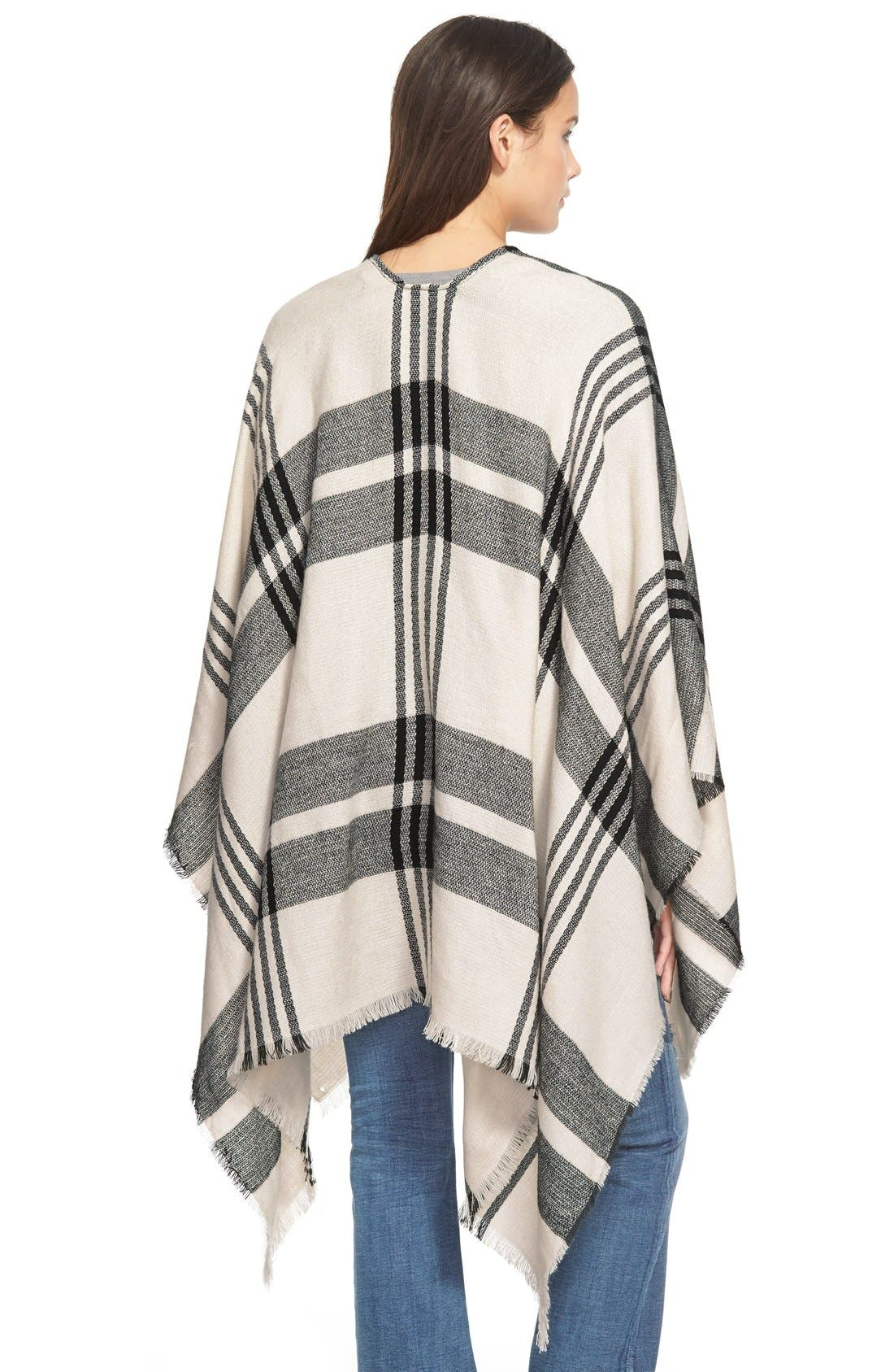Alternate Image 2  - BP. Plaid Poncho