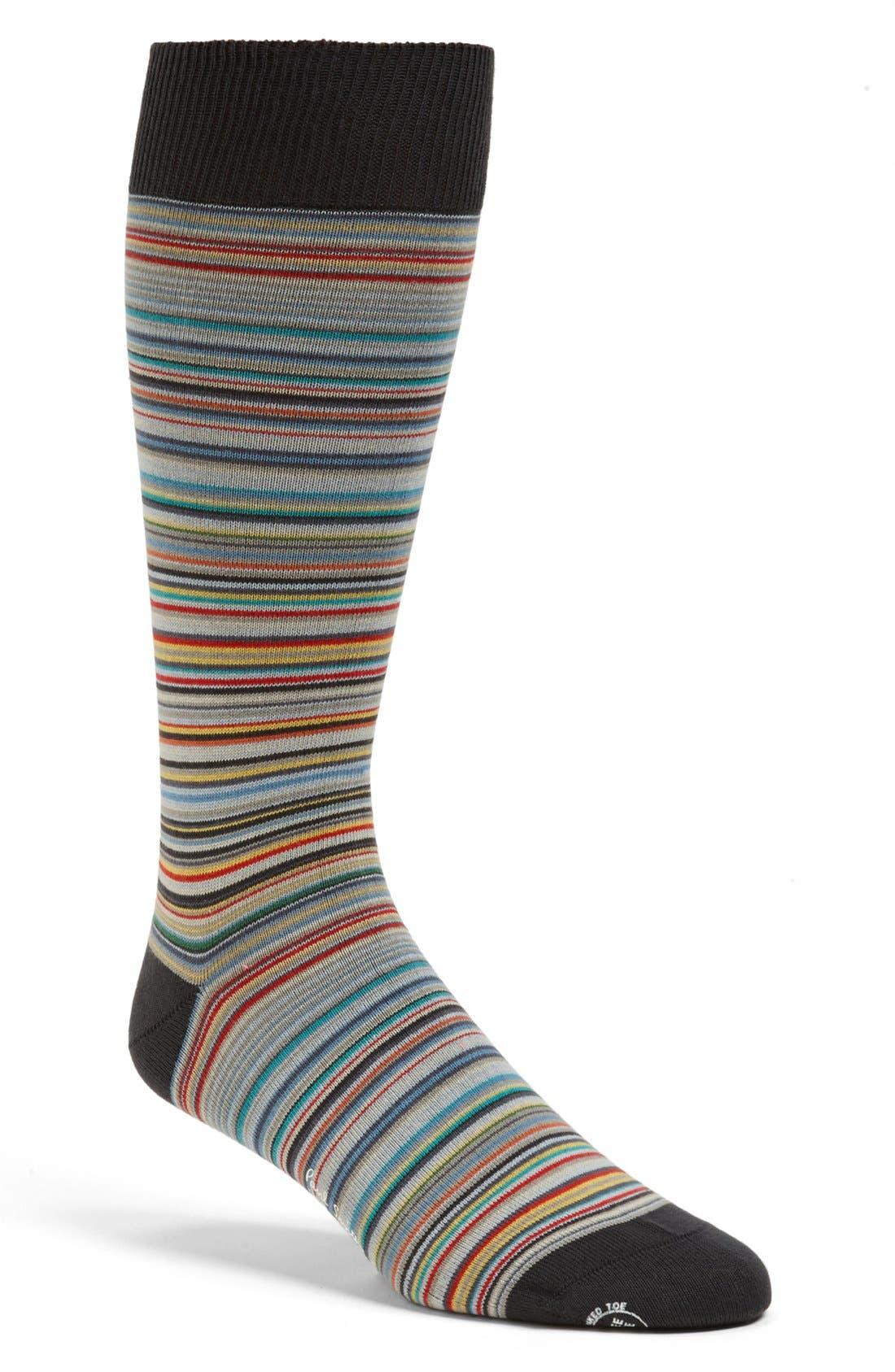 Alternate Image 1 Selected - Paul Smith Multi Stripe Socks