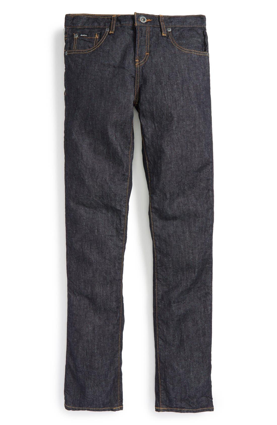 Main Image - RVCA 'Daggers' Slim Fit Jeans (Big Boys)