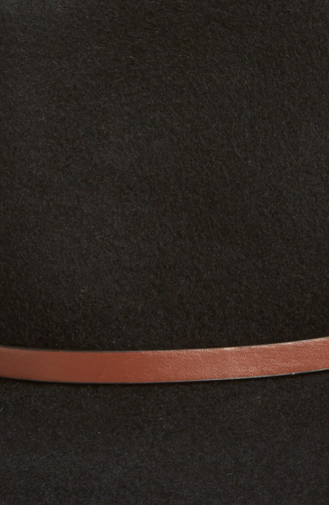 Alternate Image 2  - Hinge Faux Leather Trim Wool Felt Panama Hat
