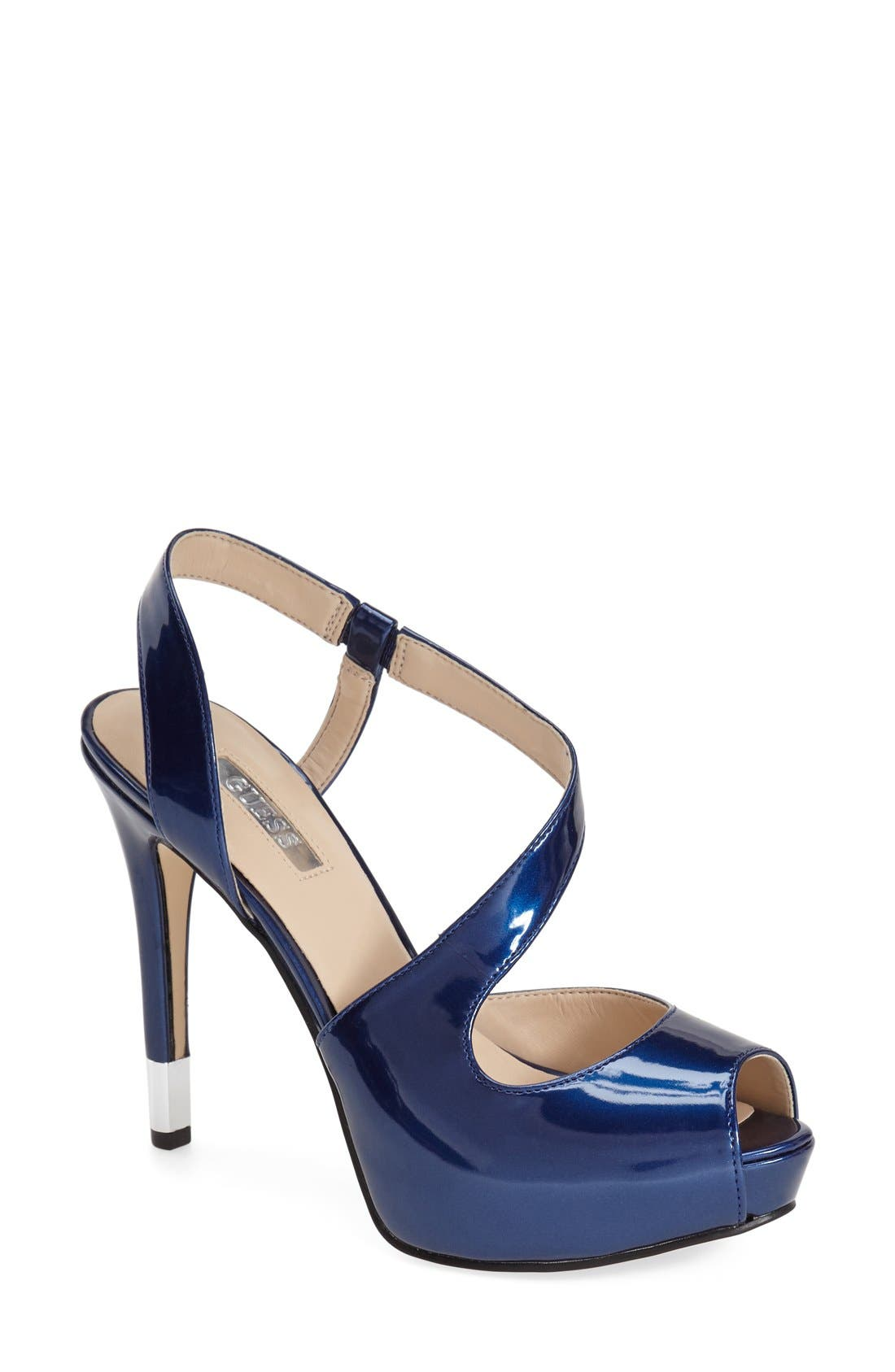 Alternate Image 1 Selected - GUESS 'Hilarie' Peep Toe Sandal (Women)